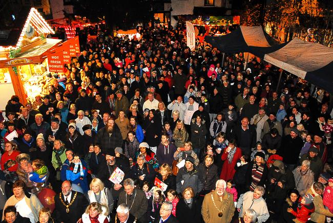 Crowds will gather in market town across Herefordshire this weekend, including Bromyard, for Christmas lights switch-on events. Photo: David Griffiths.