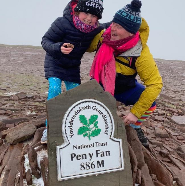 Des Lally on his Pen Y Fan challenge this year