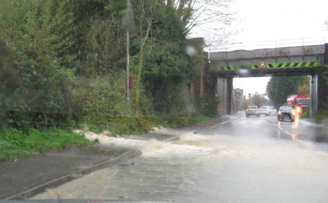 FLOODING: on the Bromyard Road last month