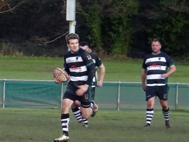 Matt Hallett ran over four tries for Ledbury against Burbage