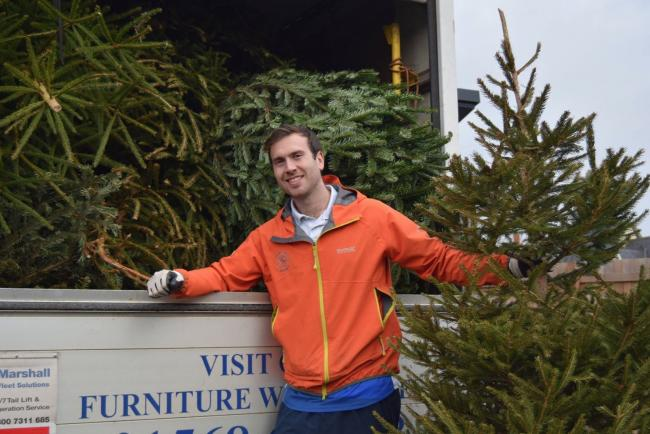 Events manager Matt Ashcroft is looking forward to collecting Christmas Trees in the New Year.