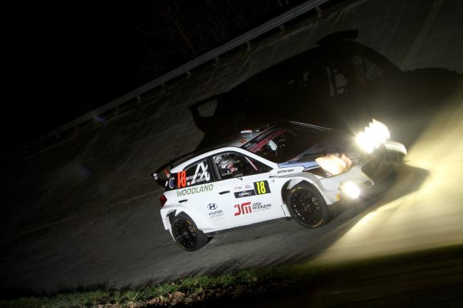 Keaton Williams was co-driver for Josh McErlean in the Monza Rally Show