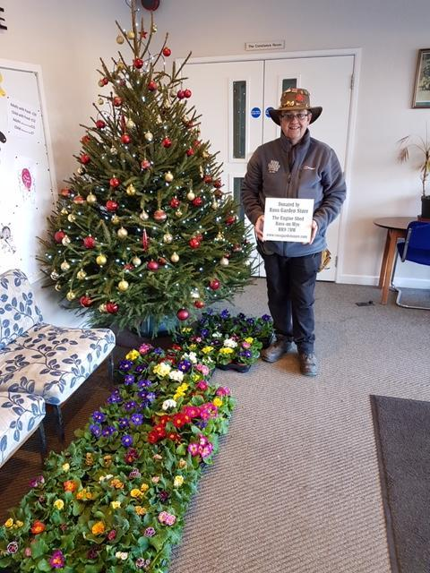 EVERY year Ross Garden Store supply a hundred Primroses in flower as a gift to the older generation that attend the Christmas lunch at the Larruperz Centre, Ross-on-Wye on Christmas day. Alison Stephenson said: