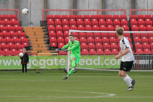 William Henry in action against Gateshead. Picture: Andy Walkden