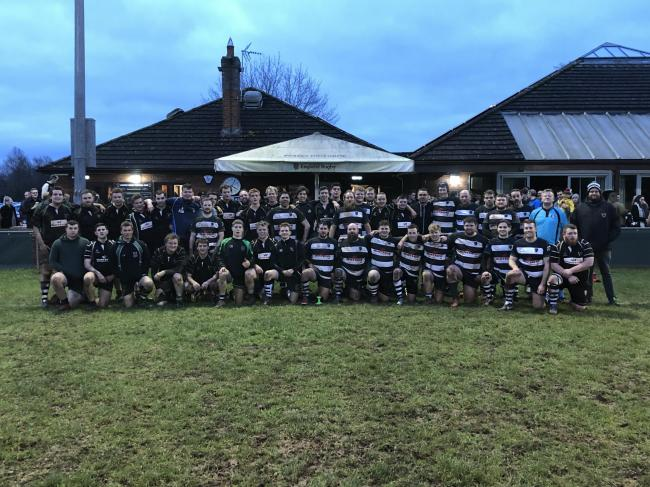 Ledbury RFC and Ledbury Farmers played out a 12-12 draw in what is to become an annual festive fixture
