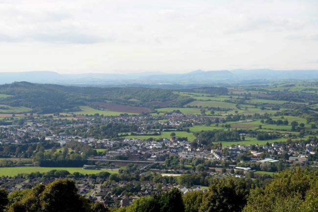 Picture of the Day. The view over Monmouthshire and the Brecon Beacons from Kymin Hill, near Monmouth.