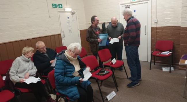 PUBLIC: Busy gallery at Kempsey Parish Council's meeting which took place at Kempsey Community Centre
