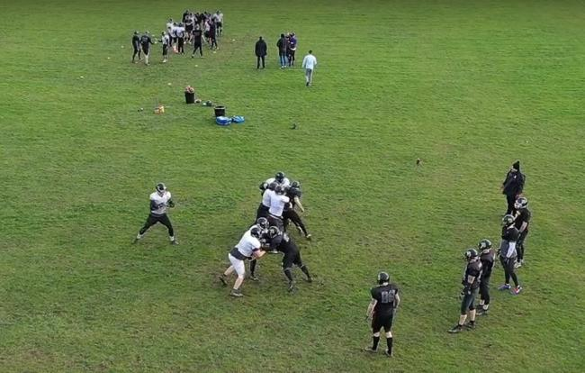 Footage from a drone during Hereford Stampede's rookie session