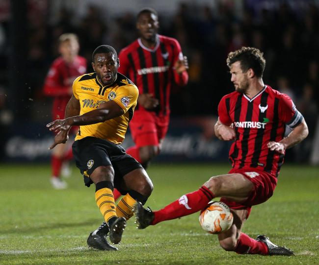 Lenell John-Lewis in action for former club Newport County