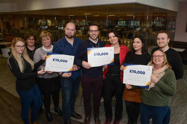 Employees at allpay in Whitestone have raised £10,000 for St. Michael's Hospice who were the company's charity of the year