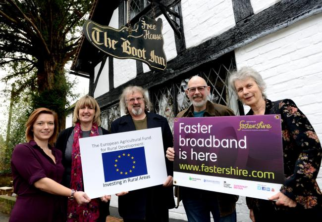Fastershire and Airband at the Boot Inn,Orleton.Photo: Chas Breton