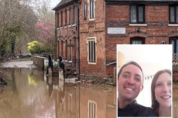 Ben and Sam Shoesmith (inset) have had their property flooded twice since moving in just over 12 months ago