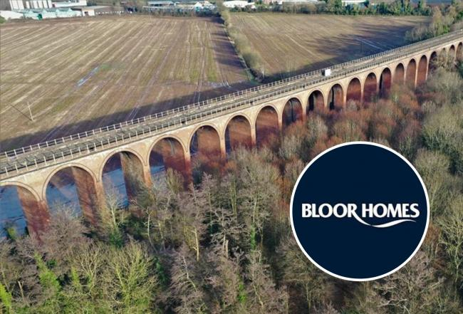 Ledbury viaduct pictured from the air by Michael Peets. Bloor Homes has plans to develop land north of the 19th-century grade II listed structure