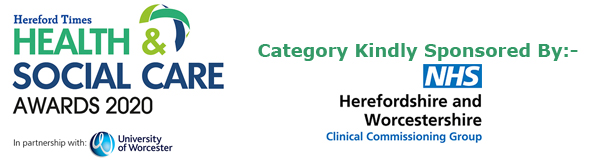 Hereford Times: Hereford Times' Health & Social Care Awards 2020 - The Dementia Carer Award kindly sponsored by Herefordshire and Worcestershire Clinical Commissioning Group