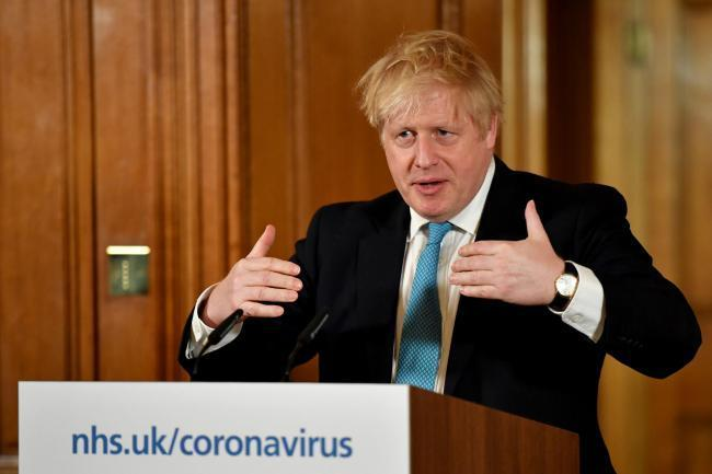 leader: Boris Johnson has urged businesses to stand by their employees