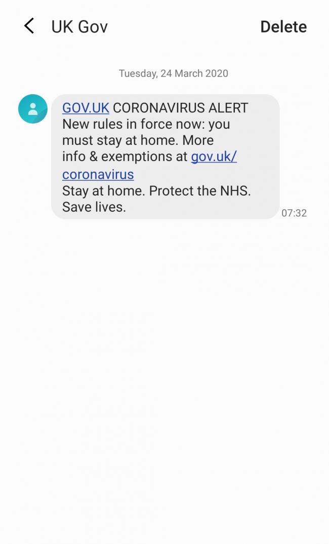 This coronavirus text message warning will be sent to EVERY mobile phone today