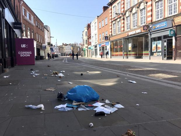 Hereford Times: The streets of Hereford city centre were quiet on Tuesday, March 24, in response to the Government's coronavirus lockdown guidance. Picture: Rob Davies