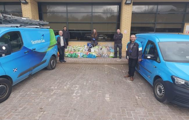British Gas engineers to deliver food parcels for people in need. Picture: British Gas