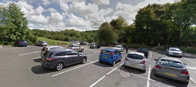 Pic: The car park and play area at Leasowes Park. Pic: Google