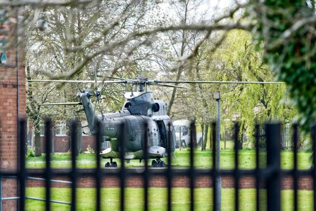 Hereford Times: Puma helicopter in Hereford. Picture: Stu Lane
