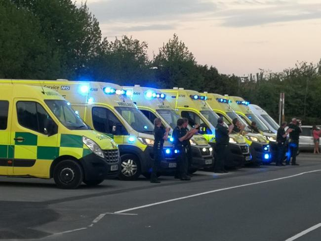 Paramedics in Hereford outside the county hospital showing their appreciation. Picture: Ash Winter