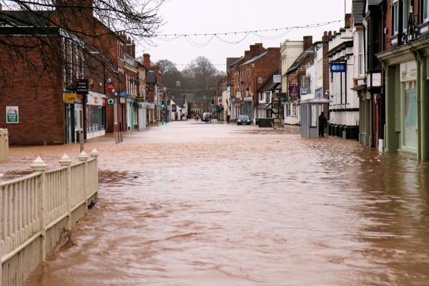 Flooding in Tenbury. People can still claim for help from fund.