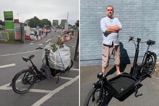 Ralf Meiklejohn was barred from entering the tip in Hereford because bicycles and pedestrians are not currently allowed due to coronavirus health and safety regulations