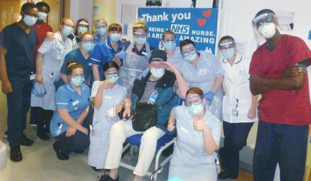 Hereford Times: Worcestershire's first confirmed coronavirus patient Roger Harris, aka Captain Crazy, leaves hospital