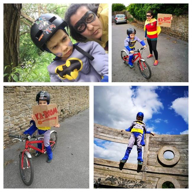 Esmat Faize and son, Cyrus, raising much needed funds for St Michael's Hospice