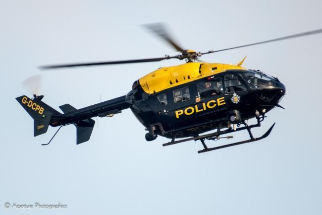 The police helicopter was over Clehonger last night