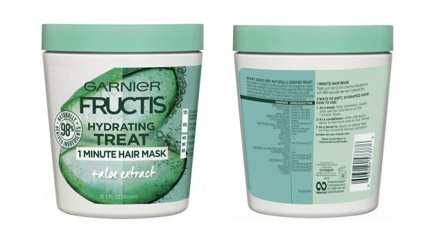 Hereford Times: Hydrate your hair with the Garnier Fructis 1 Minute Nourishing Hair Mask. Credit: Garnier