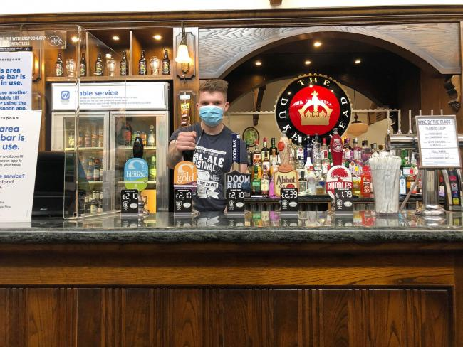 Tristan Howells welcomes customers to the Duke's Head in Leominster