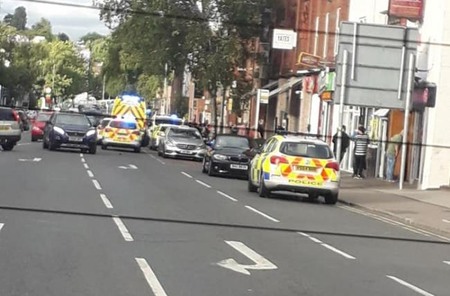 Police were called to Commercial Road. Photo: Tonia Bowkett