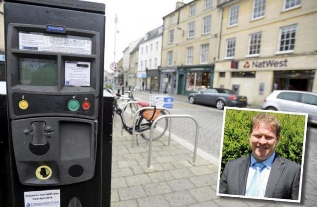 APPROVED: Cllr Richard Morgan is calling for a halt to car parking charge increases