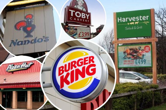 A number of chains have signed up for the new Eat Out scheme in the UK, including Burger King, Pizza Hit, Nando's and Harvester
