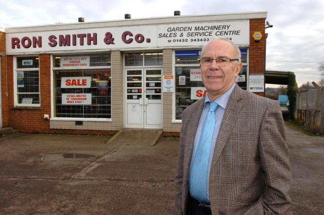 Ron Smith at his old showroom in Widemarsh Street, Hereford