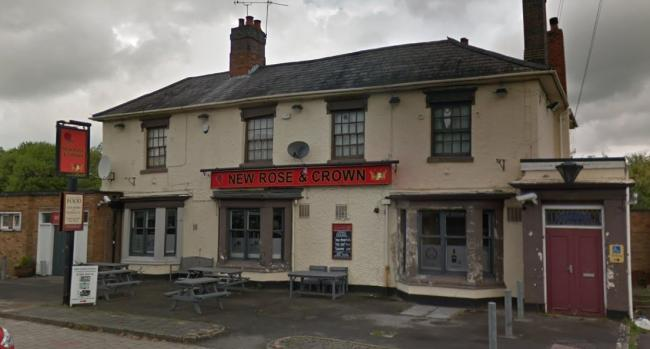 The New Rose and Crown pub in Rubery where a car crashed into a wall. Picture: Google Maps.