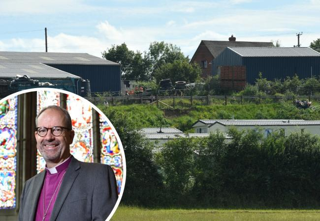 The Bishop of Hereford Richard Jackson has urged the public to show compassion to workers at coronavirus hit farm. Main picture: Jacob King/PA Wire