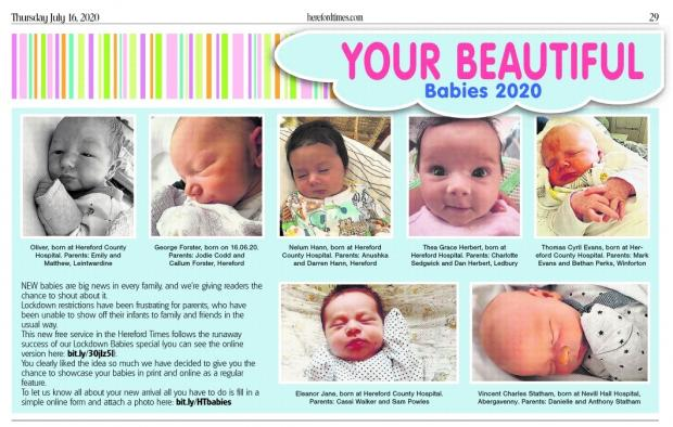 Hereford Times: Beautiful babies in this week's Hereford Times