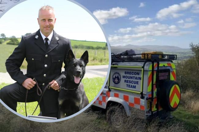 PC Lloyd with police dog Max. Photo: Dyfed-Powys Police