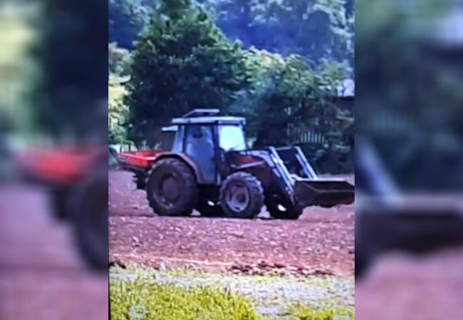 A Massey 4355 tractor was stolen from a field in Herefordshire. Picture: Dyfed-Powys Police rural crime team