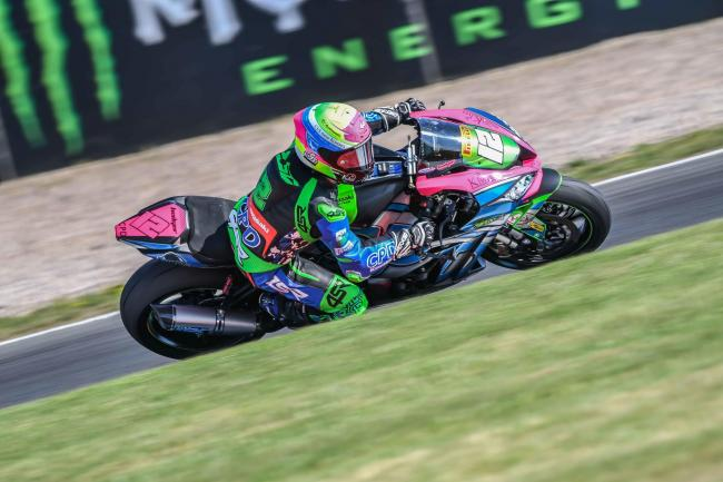 Luke Hedger competing in the opening round of the Bennetts British Superbike Championship