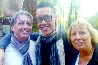 Dave Rawlings and Julie Thomas, students at RNC in Hereford, are helping TV personality Gok Wan encourage those with disabilities to be more comfortable in their own skin.