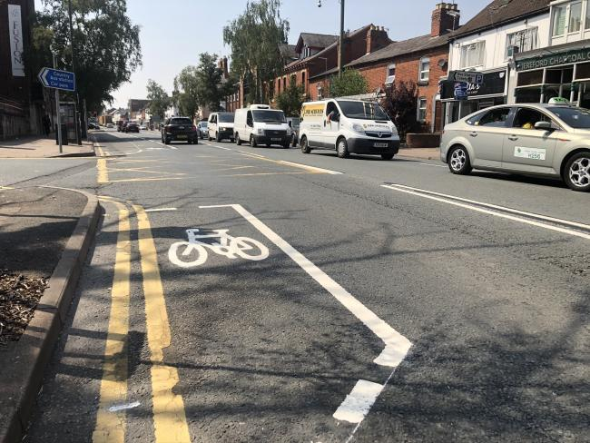 The new Commercial Road bus and cycle lanes have been removed