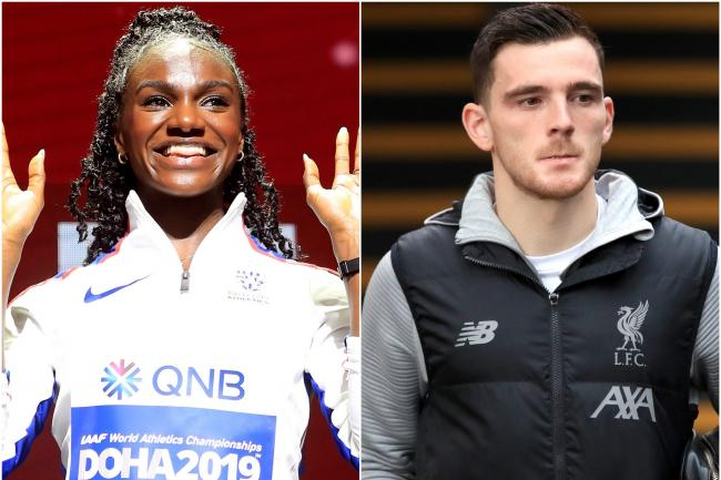 Dina Asher-Smith and Andy Robertson
