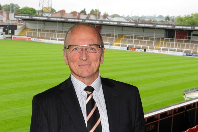 Chairman of Hereford Football Club Andrew Graham. Edgar Street, Hereford