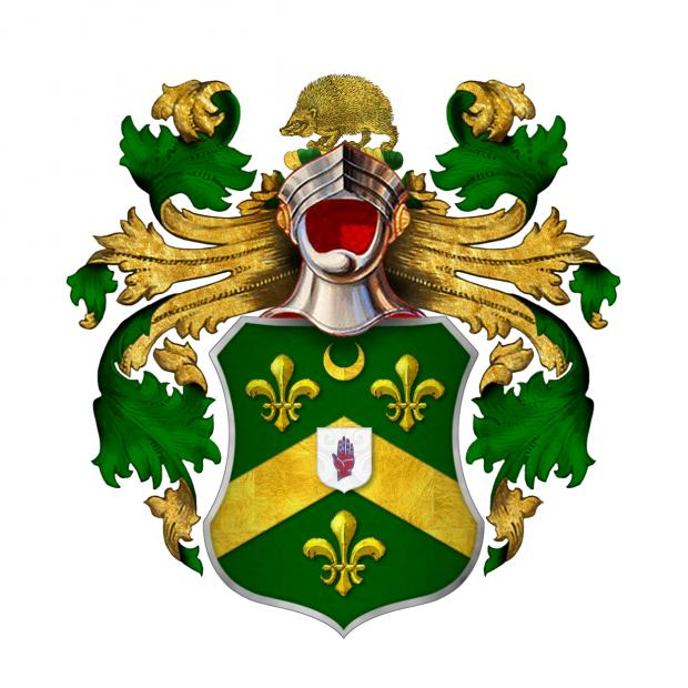 Hereford Times: The coat of arms of Sir John Kyrle, 1st Baronet of Much Marcle features a hedgehog at the top.