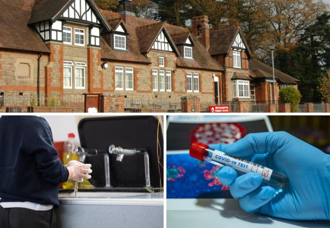 A child at Brockhampton Primary School near Bromyard has tested positive for coronavirus