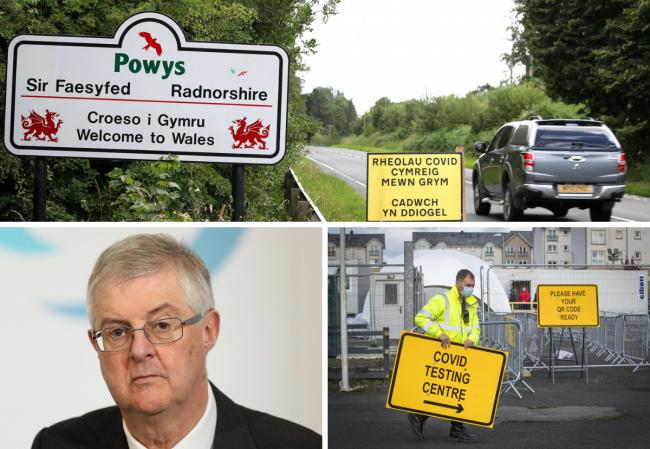 A fire break lockdown will start in Wales at 6pm on Friday and last for 17 days, and First Minister Mark Drakeford (bottom left) says this won't be extended