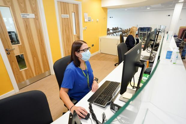 Hereford Times: The reception area at the Station Medical Centre